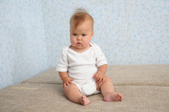 Cute Baby sitting quite Royalty Free Stock Images