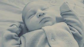 Cute baby sleep. Cute newborn baby sleep Stock Photos