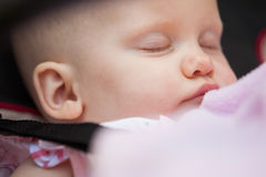 Cute baby sleeping with eyes closed Stock Image