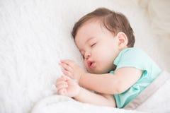 Cute baby sleeping royalty free stock photography