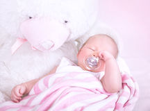 Cute baby sleeping Royalty Free Stock Photography