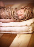 Cute baby sleeping Stock Image