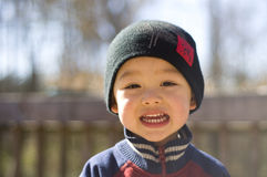 Cute baby smile. Picture of a cute boy smiling Stock Image
