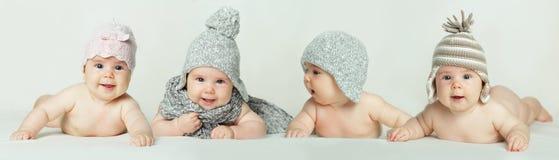 Cute baby - smiling children Stock Photos
