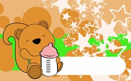 Cute baby squirrel cartoon background copyspace Stock Image