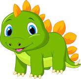 Cute baby stegosaurus cartoon Royalty Free Stock Photo