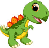 Cute baby stegosaurus cartoon Royalty Free Stock Photography