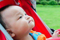 Cute baby in the stroller Royalty Free Stock Photos