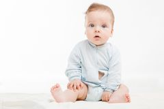 Cute baby studio portrait Stock Image