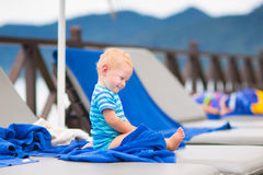 Cute baby at swimming pool Stock Photography