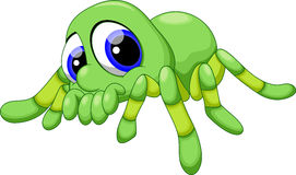 Cute baby tarantula cartoon Royalty Free Stock Image