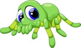 Cute baby tarantula cartoon Royalty Free Stock Image