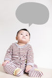 Cute Baby thinking and look up forward Stock Images