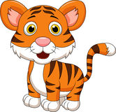 Cute baby tiger cartoon. Illustration of cute baby tiger cartoon Royalty Free Stock Images