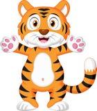 Cute baby tiger cartoon. Illustration of Cute baby tiger cartoon Stock Images