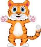 Cute baby tiger cartoon. Illustration of Cute baby tiger cartoon Royalty Free Stock Photo
