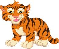 Cute baby tiger cartoon. Illustration of cute baby tiger cartoon Stock Photography