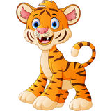 Cute baby tiger cartoon Royalty Free Stock Photos