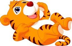 Cute baby tiger cartoon Stock Photo