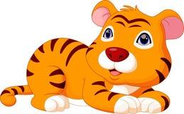 Cute baby tiger cartoon Royalty Free Stock Photos