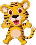 Cute baby tiger posing Stock Photo