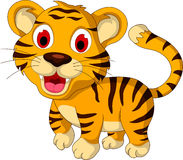 Cute baby tiger walking. Illustration of cute baby tiger walking Stock Images