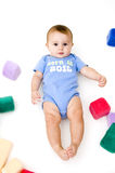 Cute Baby with Toys Royalty Free Stock Image