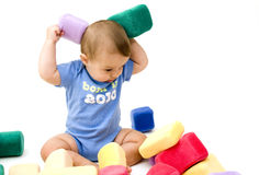 Cute Baby with Toys Stock Image
