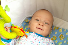 Cute baby with toys Stock Photo