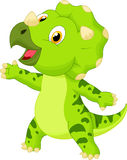 Cute baby triceratops cartoon Royalty Free Stock Images