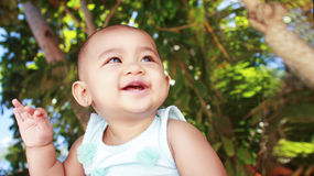 Cute baby in the tropics Royalty Free Stock Photo