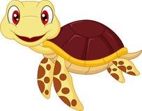 Cute baby turtle cartoon Stock Photos