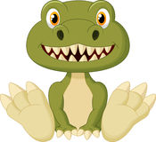 Cute baby tyrannosaurus cartoon Stock Images