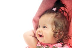 Cute baby under  blanket Royalty Free Stock Images