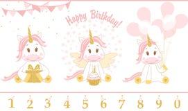 Free Cute Baby Unicorn. Vector Illustration. Stock Photo - 95286650