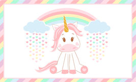 Cute baby unicorn. Vector illustration. Royalty Free Stock Image