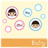 Cute baby vector Royalty Free Stock Photography