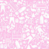 Cute baby vector seamless pattern. Endless texture Royalty Free Stock Photos