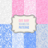 Cute baby vector seamless patterns. Endless Royalty Free Stock Photos