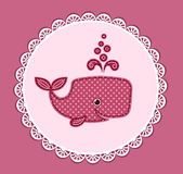 Cute baby whale on the pink Royalty Free Stock Image