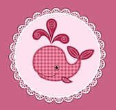 Cute baby whale on the pink Royalty Free Stock Photography