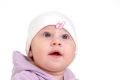 Cute baby on white Stock Photography