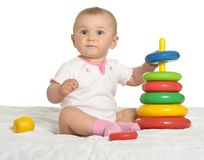 Cute baby wih toy Royalty Free Stock Image