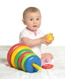 Cute baby wih toy Royalty Free Stock Photo