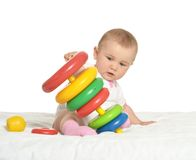 Cute baby wih toy Stock Image