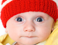 Cute baby in winter hat Stock Photography