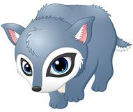 Cute baby wolf walking. Illustration of Cute baby wolf walking Royalty Free Stock Images