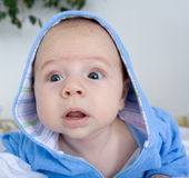 Cute baby wondering Royalty Free Stock Photo