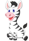 Cute baby zebra cartoon Royalty Free Stock Image
