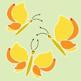 Cute babyish butterflies. Baby pattern stock illustration
